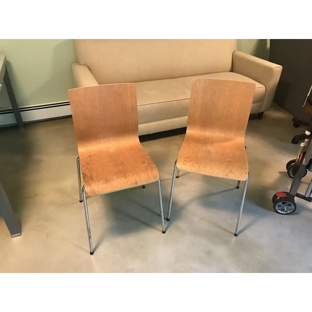 Modern Room & Board Bentwood Side Chairs - a Pair For Sale In San Francisco - Image 6 of 7