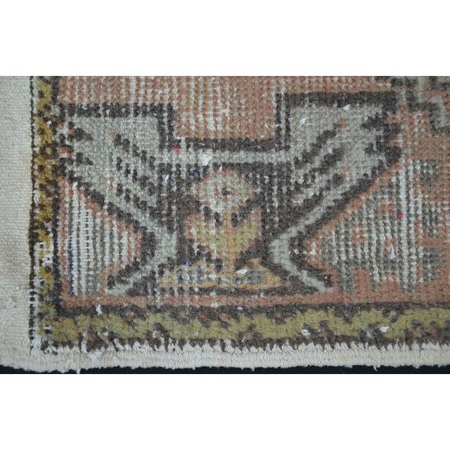 Turkish Anatolian Oushak Carpet - 1′7″ × 3′2″ For Sale - Image 4 of 6