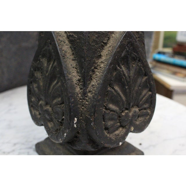 Art Nouveau Early 20th Century Vintage Iron Finial For Sale - Image 3 of 5