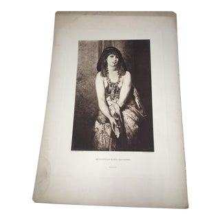 1880 Hans Makart Pinx Egyptian King's Daughter Lithograph For Sale
