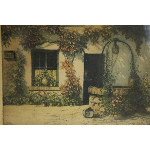 Framed Pastoral Home Print For Sale - Image 4 of 6