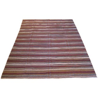 Striped Kilim Rug - 8′2″ × 11′3″ For Sale