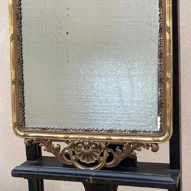 Neoclassical 19th Century Italian Carved Giltwood Mirror For Sale - Image 3 of 11
