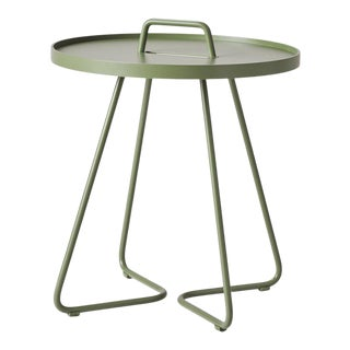 Cane-Line On-The-Move Side Table, Small, Olive Green For Sale