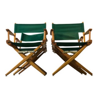 Vintage Folding Director Chairs, Set of 4 For Sale