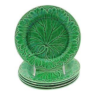 Wedgwood Majolica Leaf Plates - Set of 5