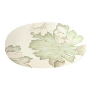 Dorothy Thorpe Mid Century Large Magnolia Platter For Sale