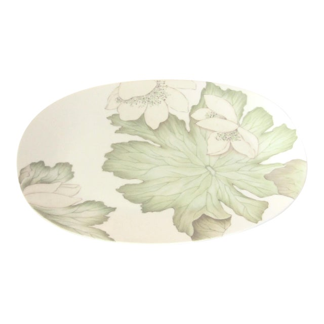 Dorothy Thorpe Mid Century Large Magnolia Platter For Sale