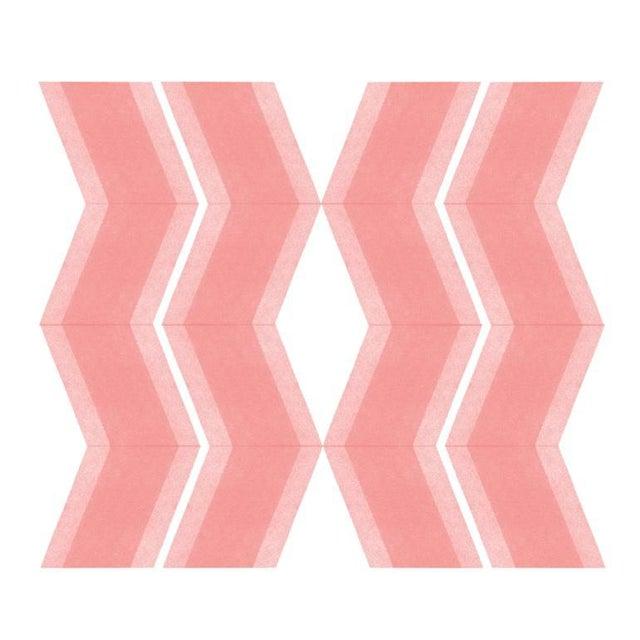 Pink Zig Zags Soft Geometry Print by Jessica Poundstone For Sale