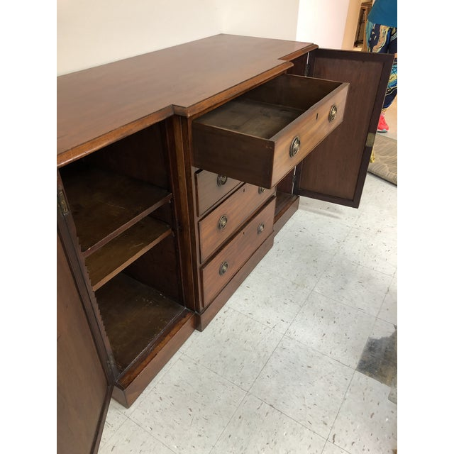Beautiful walnut buffet credenza made in the 1860s. Could be used for serving, or storage.