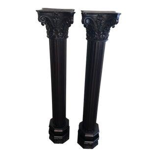 Traditional Mahogany Pillars - A Pair