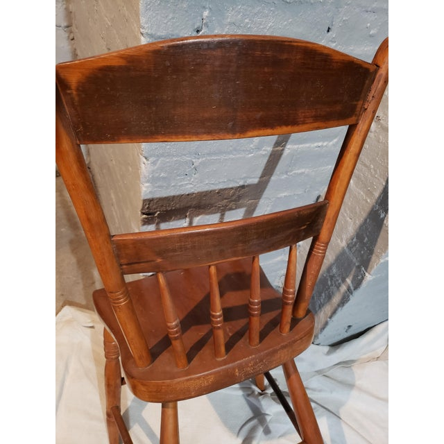 1825 Spindle Back Windsor Chair For Sale In Boston - Image 6 of 11