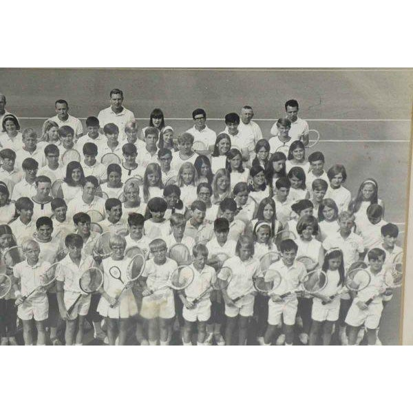 Traditional 1968 Vintage Tennis Camp Photo For Sale - Image 3 of 6