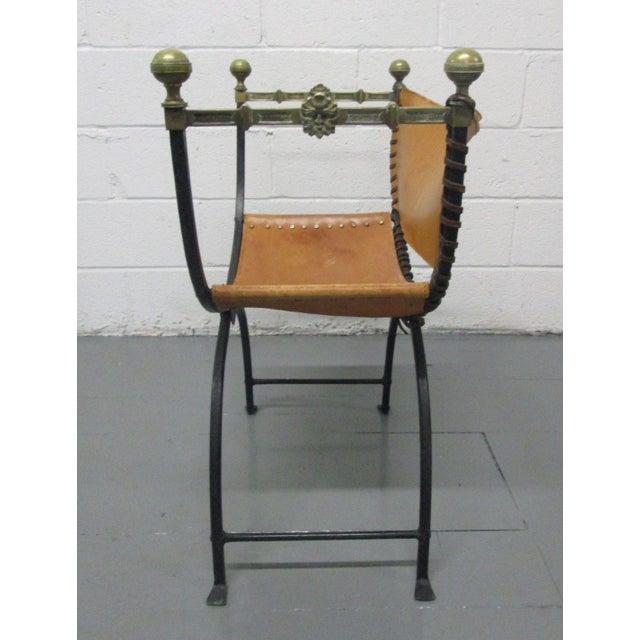 Italian Italian Curule Savonarola Chair For Sale - Image 3 of 9