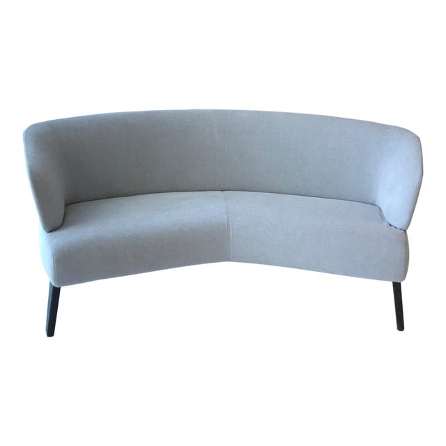 Creed Curved Lounge Sofa Designed by Minotti For Sale