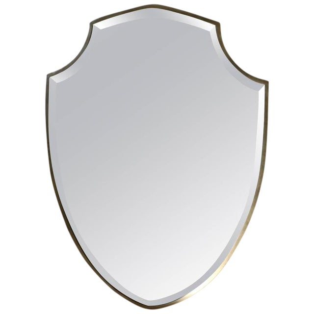 1990s Transitional Shield Mirror For Sale