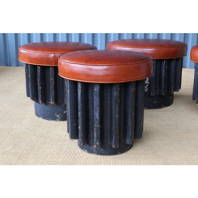 Industrial Industrial Gear Cog Stools, California, 1940s For Sale - Image 3 of 11