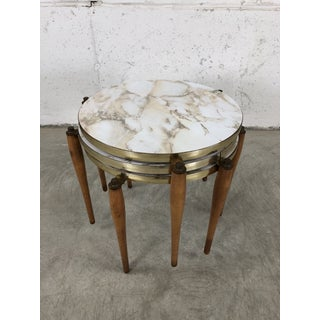 1960s Round Laminate Faux Marble Nesting Side Tables, Set of 3 Preview