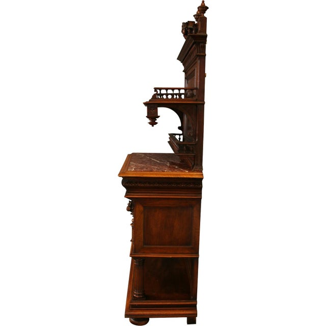 1900 French Renaissance Sideboard Server For Sale - Image 9 of 12