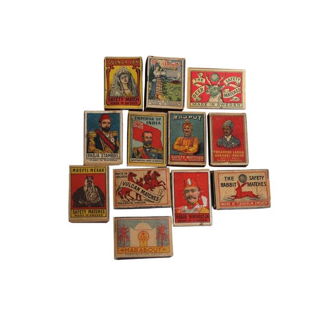 Vintage Swedish Matchbooks - Set of 12 For Sale