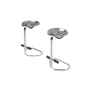 Chrome Tractor Stools by Rodney Kinsman for Bieffeplast - 1970s For Sale
