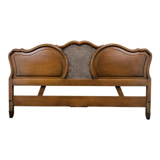 French Provincial Style King Size Headboard W Caned Center For Sale
