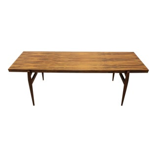 Mid-Century Modern Larsen Style Rosewood Coffee Table For Sale