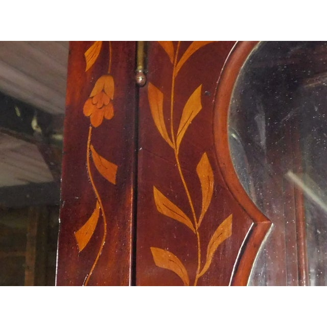 19th C. Dutch Marquetry Inlaid Display Cabinet C. 1840 W/ Glass Shelves For Sale - Image 12 of 12