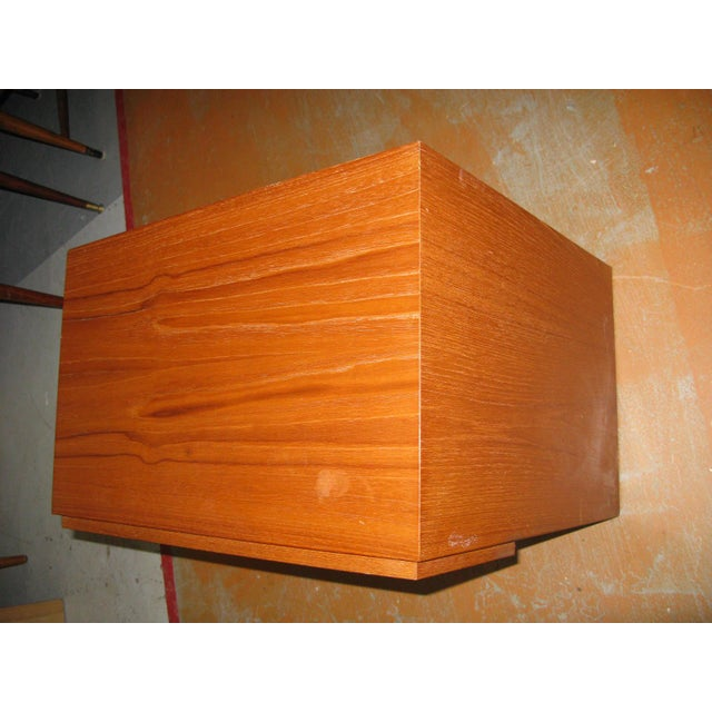 Mid-Century Danish Modern Teak Vinde Mobelfabrik 1-Drawer Nightstand - Image 6 of 10