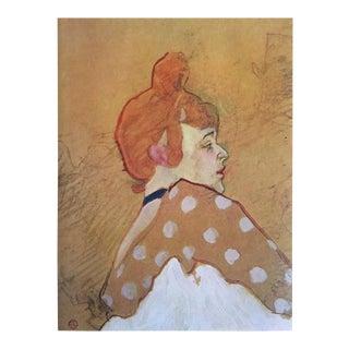 """Toulouse Lautrec Rare Vintage 1952 Limited Edition French Lithograph Print """" La Goulue """" 1891 For Sale"""