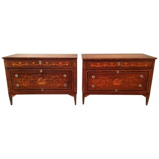 Pair of 18th Century Milanese Commodes Attributed to Giuseppe Maggiolini For Sale