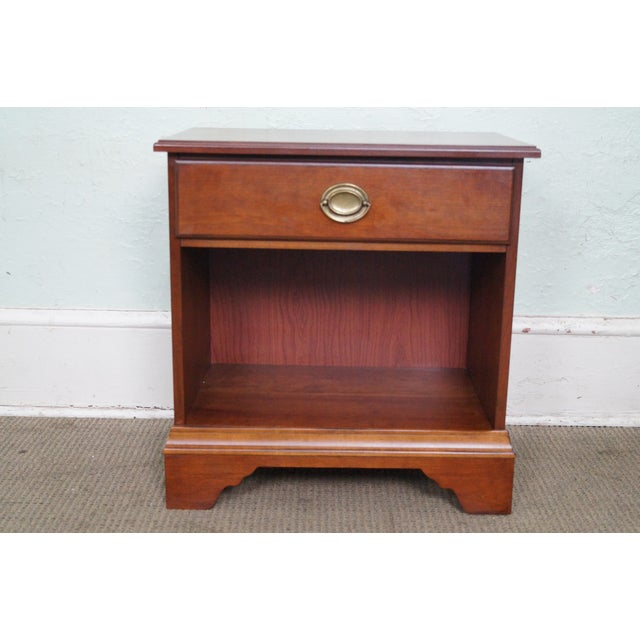 Store Item #: 14663 Eddie Bauer for Lane Traditional 1 Drawer Nightstand COUNTRY OF ORIGIN: Approx 15 years, America...
