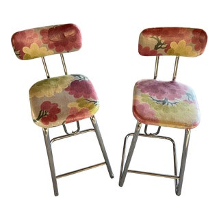 Mid-Century Bar Stools - a Pair For Sale