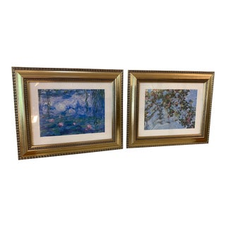 Framed Impressionist Prints - a Pair For Sale