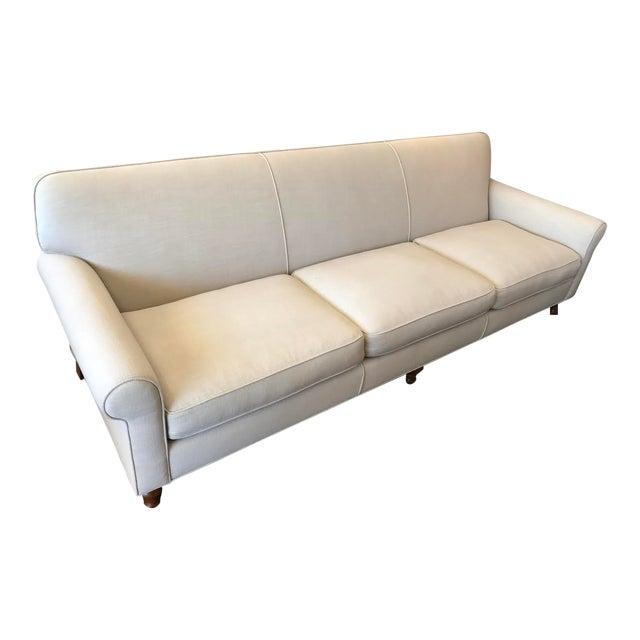 Modern Custom Ivory Sofa - Image 1 of 5