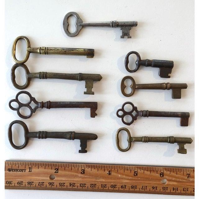Set of 9 Antique & Vintage Skeleton and Door Keys For Sale In New York - Image 6 of 13