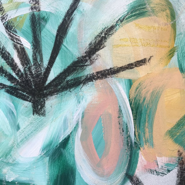 Abstract Palm Fronds #1 Contemporary Painting For Sale - Image 3 of 5