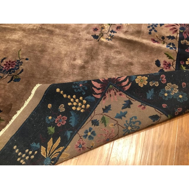 Antique Chinese Art Deco Rug - 10′2″ × 13′5″ - Image 6 of 6