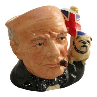 Winston Churchill Character Jug by Royal Doulton For Sale