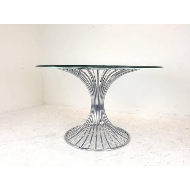 Mid-Century Modern Sculpted Dining Set - Image 5 of 8