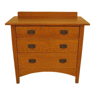 Stickley Mission Oak 3 Drawer Chest of Dresser For Sale