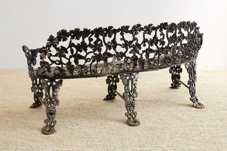 Pair Of Neoclassical Cast Aluminum Garden Benches For Sale   Image 12 Of 13