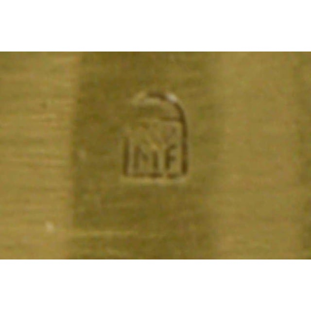 Gold Ikora Brass Serving Plate For Sale - Image 8 of 8