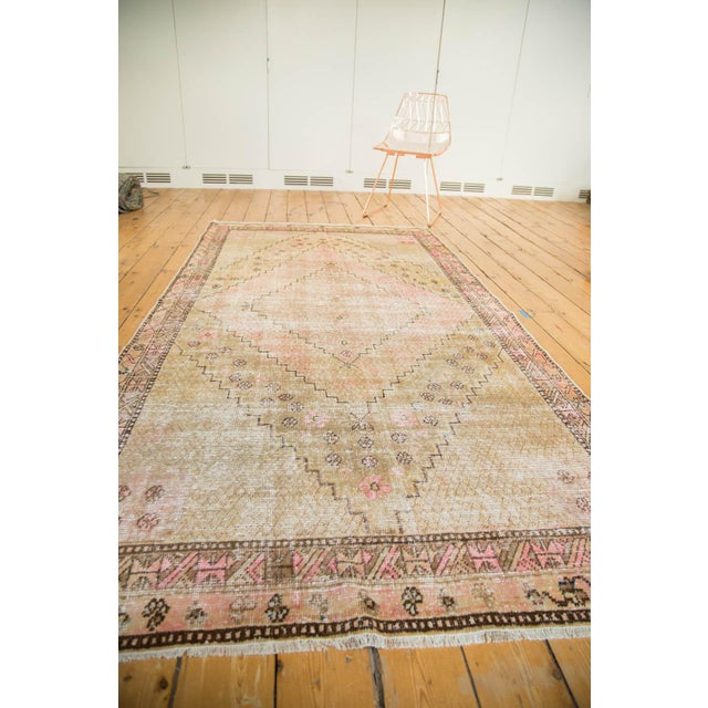 "Vintage Distressed Khotan Rug - 4'7"" x 8'9"" - Image 10 of 10"