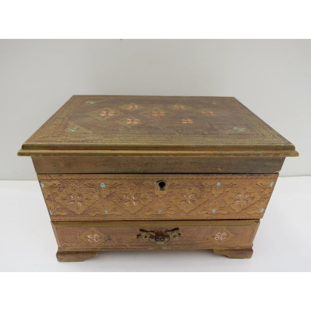 Florentine Gold Jewelry Box - Image 2 of 8