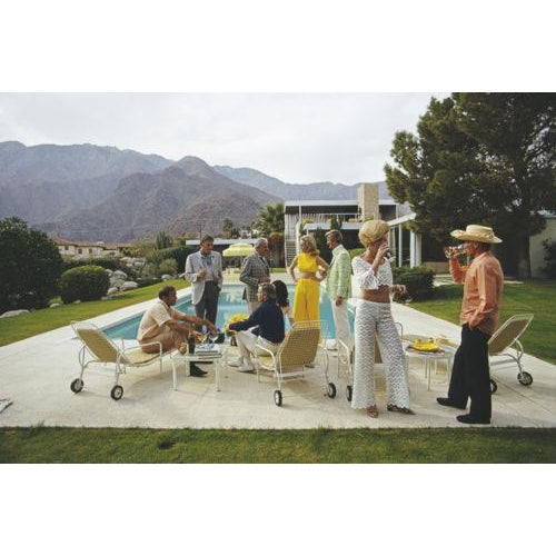 Mid-Century Modern Slim Aarons New Desert House Party Photograph Print For Sale - Image 3 of 4