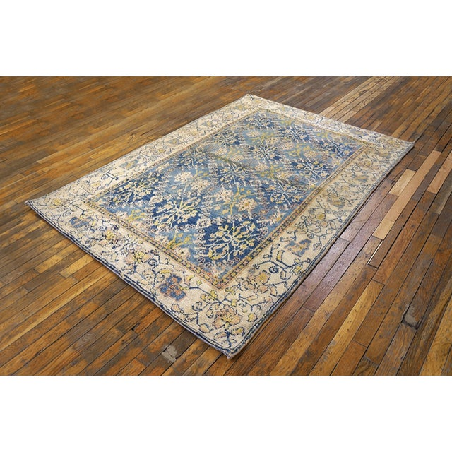 Indian Antique Indian Agra Cotton Rug For Sale - Image 3 of 7