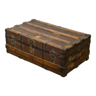 Antique Cabin Trunk C.1900 For Sale