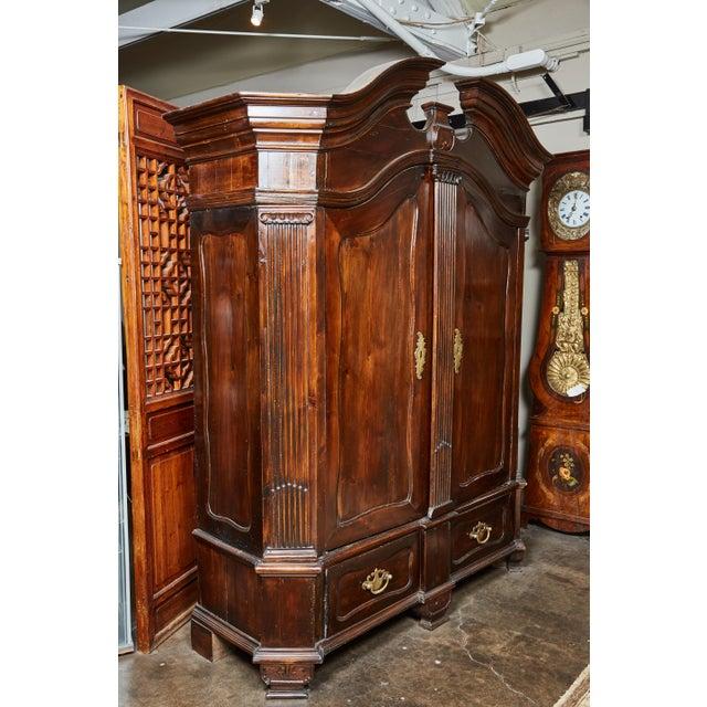 18th Century Danish Louis XVI Pine Two-Door Cabinet For Sale - Image 10 of 10