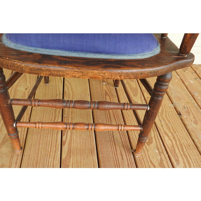 Antique Oak Cane Back Chair For Sale In San Antonio - Image 6 of 10